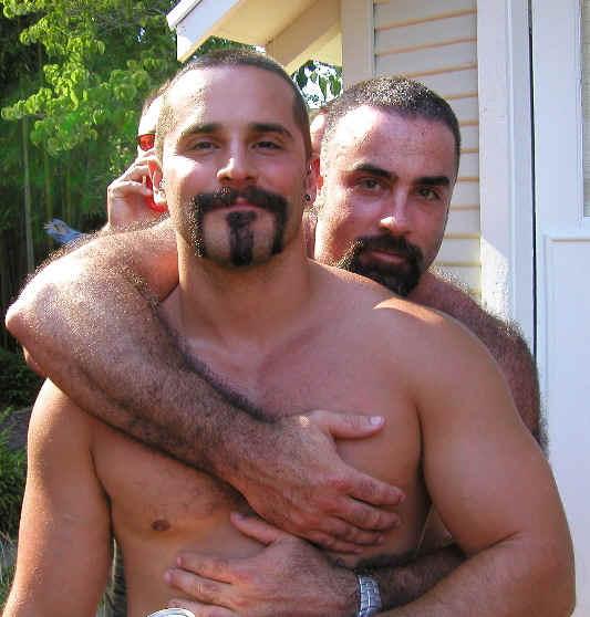 tema gay. Los osos PUEDEN SER hombres gay con cuerpos grandes .